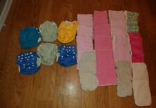 â­� Huge Cloth Diapers Lot â­� Cloth Diaper Pocket Covers â­� Pre Folds â­� 21 pieces â­�