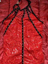NAUGHTY SEXY WOMAN HALLOWEEN COSPLAY COSTUME RED BLOUSE VAMPIRE THEME SIZE AME