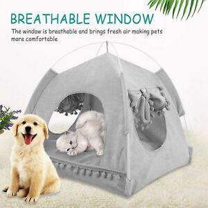 Pet Tent Dog Cat Waterproof Detachable Folding Sleeping Tent Bed Summer Outdoor