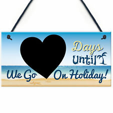 Chalkboard Countdown Days Until Holiday Plaque Sign Family Door Sign Summer Gift