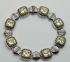 B303 Exquisite Designer Style Silver Gold Balinese Clear Color fashion Bracelet