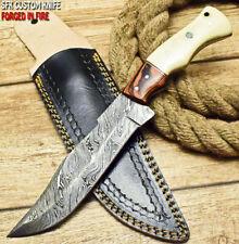 SFK CUTLERY RARE CUSTOM HANDMADE FIXED BLADE DAMASCUS FULL TANG HUNTING KNIFE