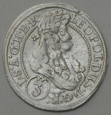 3 Kreuzer 1698 CB Haus Habsburg Leopold I. 1657-1705.