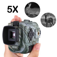 5x18 Digital Infrared Night Vision Monocular 8GB DVR Tactical Telescope