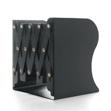 Stretchable Metal Book Ends Shelf Bookends Organizer Stand Holder Office School Black