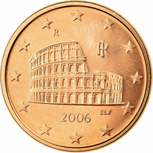 [#702388] Italie, 5 Euro Cent, 2006, FDC, Copper Plated Steel, KM:212