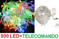 Serie 500 led multicolor.Natale,albero,luci multicolore,filo trasparente colore