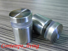 """1"""" Diameter 15/16"""" Base Stainless Steel Standoff Hardware for Glass Display"""