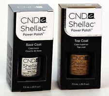 CND Shellac Soak off UV Gel Set of BASE COAT / TOP COAT .25 fl oz.