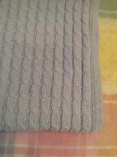 "Hartstrings Baby Blanket Blue Knit Cable Boy Crib Nursey Bedding 30"" X 36"""