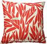 Harlequin Lauren Leaf Designer Fabric Neutral Red Sofa Cushion Pillow Cover