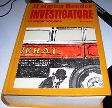 LIBRO IL SIGNOR REEDER INVESTIGATORE EDGAR WALLACE MONDADORI III EDIZIONE 1970