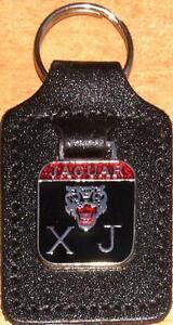 Jaguar XJ Keyring Key Ring - badge mounted on a leather fob