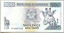 Tanzania 500 shillings 1997 P-30 UNC