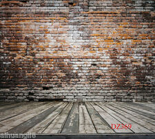 Brick Wood Floor Vinyl Photography Backdrop Background Studio Prop 5X10FT DZ369