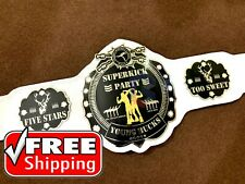 New SuperKick Party Wrestling Championship Belt Genuine Leather, 2mm