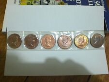 1960 to 1964P (UNC to Choice) Australian Penny set