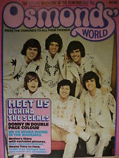 OSMONDS WORLD MAGAZINE - ISSUE 7 MAY 1974 - (INC DONNY OSMOND POSTER!)