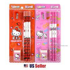 Sanrio Hello Kitty 3pcs Pencil Eraser Pencil Sharpener Stationery Set (Random)