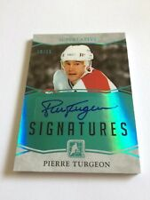 2017 ITG Superlative Pierre Turgeon /15 Signatures Green Auto Montreal Canadiens