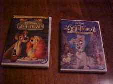 WALT DISNEY DVD LOT LADY AND THE TRAMP & LADY AND THE TRAMP II SCAMP'S ADVENTURE