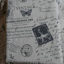 Vintage Letter Linen Fabric for tablecloth DIY Zakka Pillow Blind Apron 45x150cm