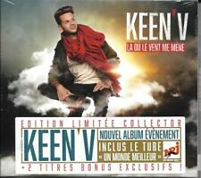 CD DIGIPACK 17T KEEN'V LA OU LE VENT ME MÈNE EDITION  COLLECTOR  NEUF SCELLE