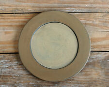 Primitive Wooden Plate Rustic Country Decor Decorative Candle Tray Ivory Tan
