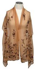 Abendstola Beige bestick Pailletten evening stole embroidered sequins