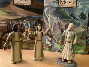 Train Up A Child Biblical Action Figures Jesus Christ  & Moses 1997  Rare (used)