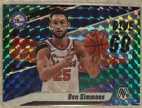 2019-20 Mosaic Ben Simmons Give And Go Green Prizm Insert SP No. 2