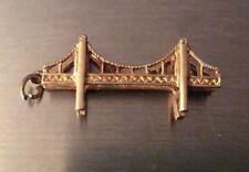 Vintage Charles Horner 9ct Gold Suspension Bridge Bracelet Charm 3.31g 3 x 1.3cm