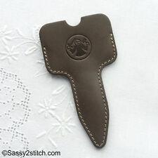 """Dovo Leather 4"""" Embroidery Scissor Case"""