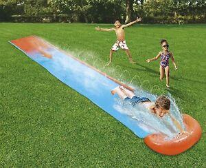 Bestway H20GO Single Water, 5.5m Inflatable Slip n Slide with Built-in Sprinkler
