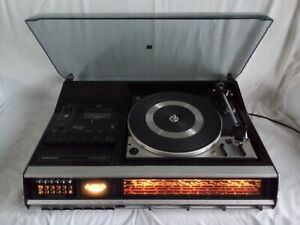 Grundig 3010 a studio with Dual 1226 turntable, 220 V, 50 Hz, works normally