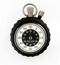 Military Stopwatch: Instant Return Time-Out Single Action Mechanical Marathon