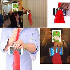 Magic Red Silk Thru Phone by Close-Up Street Magic Trick Show Prop Tool 1SET