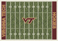 "5x8 Milliken Virginia Tech Hokies NCAA Home Field Area Rug - Approx 5'4""x7'8"""