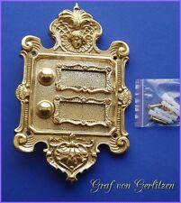 Messing Klingel 2 Klingelschild Klingelplatte Brass Door Bell Türklingel K42P