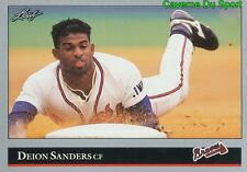 448   DEION SANDERS    ATLANTA BRAVES  BASEBALL CARD LEAF 1992