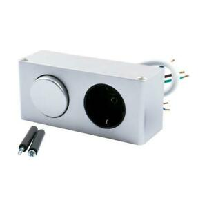 MiniBox Switch + 1x Protective contact Socket outlet Table socket outlet IP20 Al