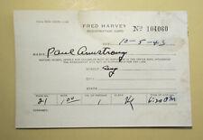 Fred Harvey hotel registration card 1943, #104060