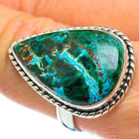 Large Chrysocolla 925 Sterling Silver Ring Size 9.25 Ana Co Jewelry R46667F