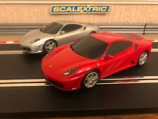 Scalextric Ferrari F430 x 2 Excellent Condition Fully Serviced & New Braids