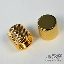 2x Boutons 20x19 Flat Top Knob for Split Shaft GOLD 6mm BigGrip Tele P-Bass