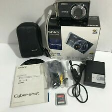 Sony Cyber-shot DSC-W370 14.1MP Digital Camera w/ Case - Black