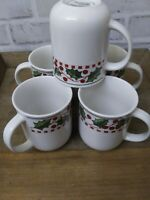 Vintage Oneida Casual Settings Winter Wonderland Coffee /Tea Mugs Lot of 5