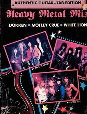 Heavy Metal Music Authentic Guitar Tab Addition Dokken Motley Crue White Lion