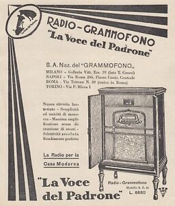 Z5047 Radio-Grammofono The Voice Of Owner - Advertising - 1930 Old Advertising