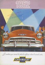 1952 CHEVROLET STYLELINE & BEL AIR PROSPEKT BROCHURE CATALOGUE FRANZÖSISCH